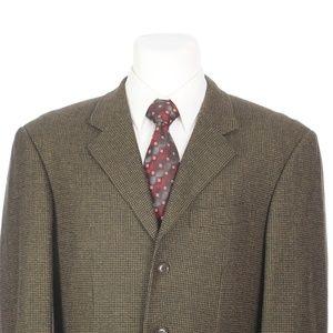 Pal Zileri Brown Black Wool Cashmere Sport Coat